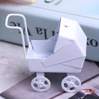 lof-bt Baby Stroller Pram Model Kids Toy DIY Miniature Dollhouse Furniture Accessories