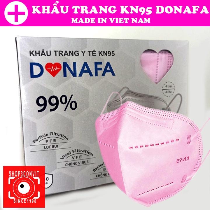 Hộp 10 khẩu trang 3D DONAFA tiêu chuẩn KN95