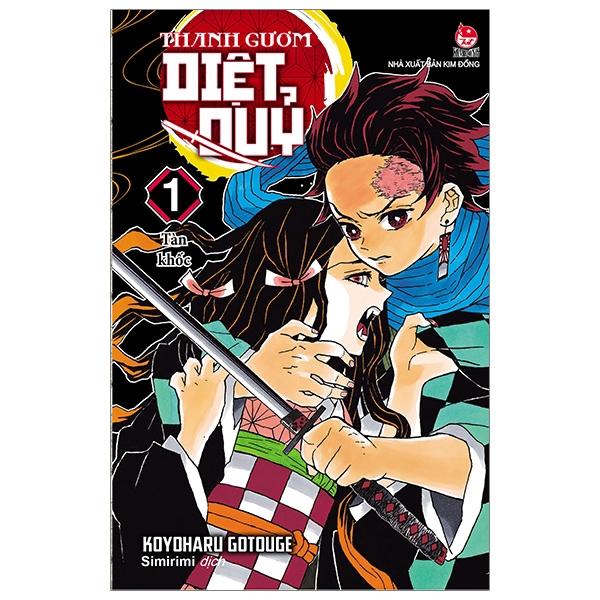 Sách - Thanh Gươm Diệt Quỷ - Kimetsu No Yaiba - Tập 1: Tàn Khốc (Tái Bản)