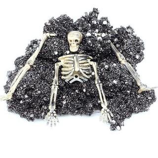 Halloween Horror Scene Slime Mud with Skeleton Skull DIY Plasticine Scary