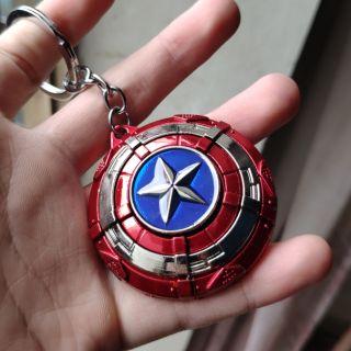 Mô hình Khiên Captain america, móc treo chìa khóa Marvel, captain america figure