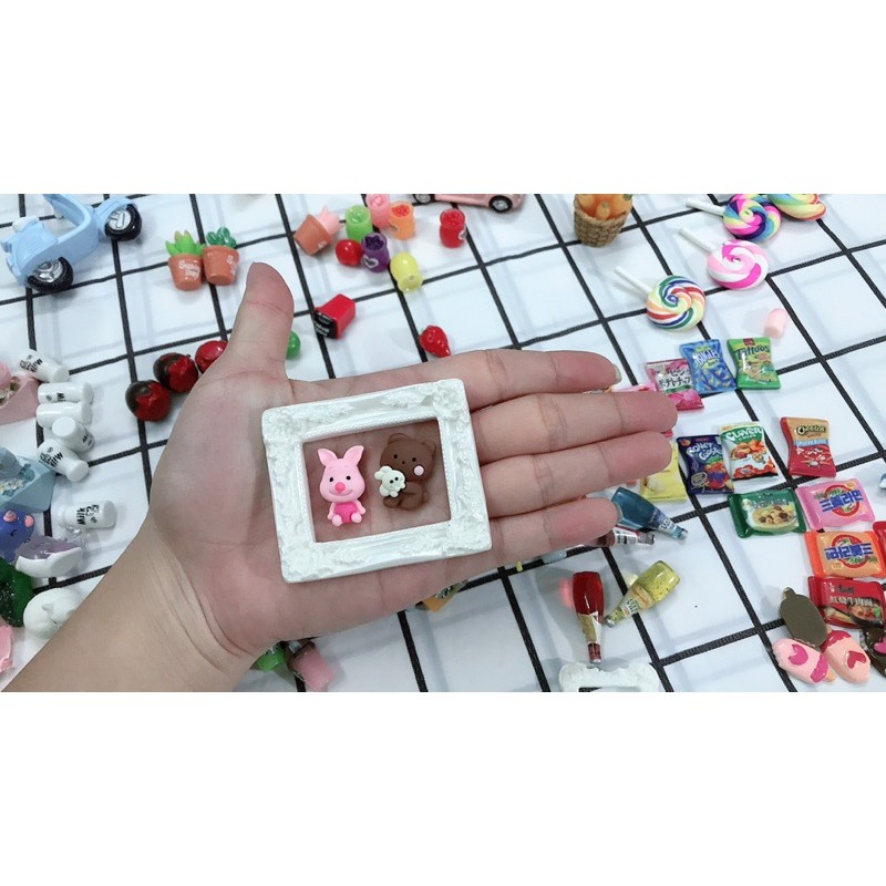khung ảnh mini trang trí nhà búp bê, mô hình
