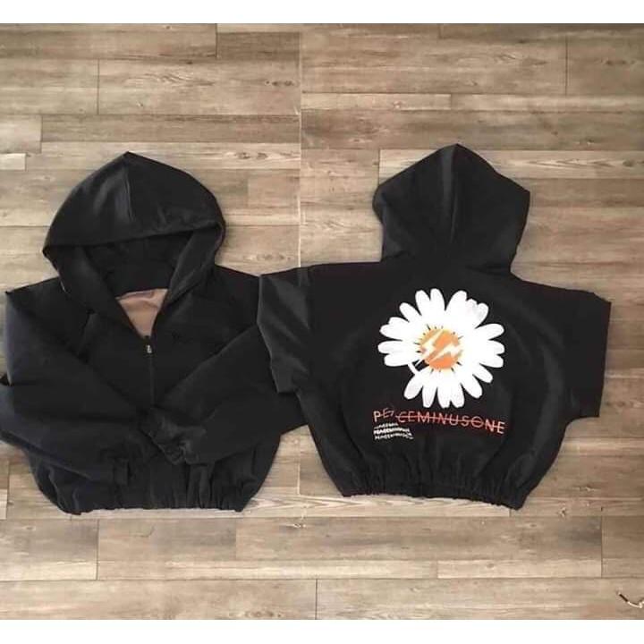 áo khoác gió in hoa cúc cá tính 0060