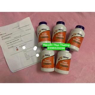 Now Plant Enzyme mẹ uống cho bé ti cho trẻ bị bất dung nạp Lactose 240 viên