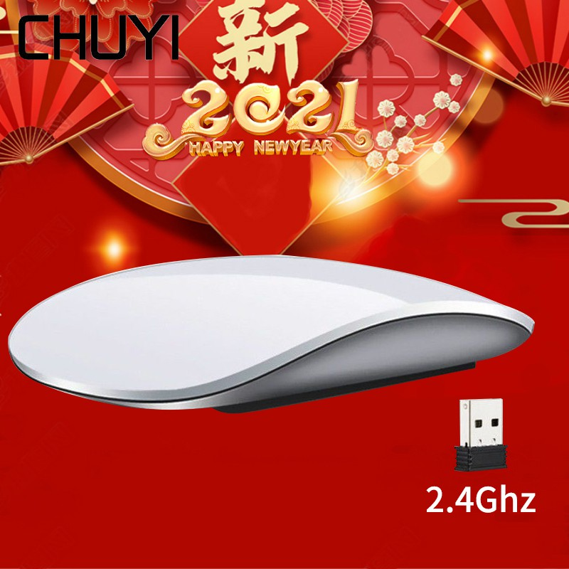 Touch Magic Wireless Mouse Ergonomic Ultra Thin USB Optical Mice 1600DPI Máy Tính Mouse For Apple Macbook PC