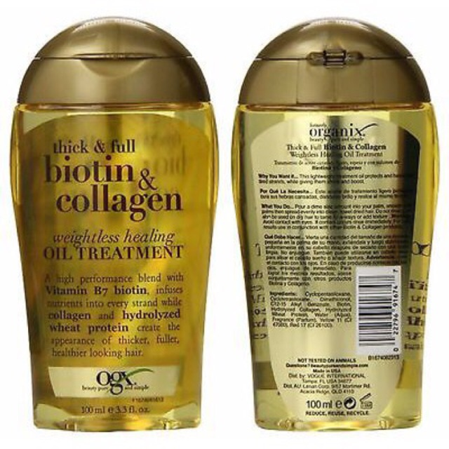 (Có Bill)Tinh dầu dưỡng tóc OGX Biotin Collagen 100ml ( Có Hộp và ko hộp) - 3080130 , 708317224 , 322_708317224 , 165000 , Co-BillTinh-dau-duong-toc-OGX-Biotin-Collagen-100ml-Co-Hop-va-ko-hop-322_708317224 , shopee.vn , (Có Bill)Tinh dầu dưỡng tóc OGX Biotin Collagen 100ml ( Có Hộp và ko hộp)