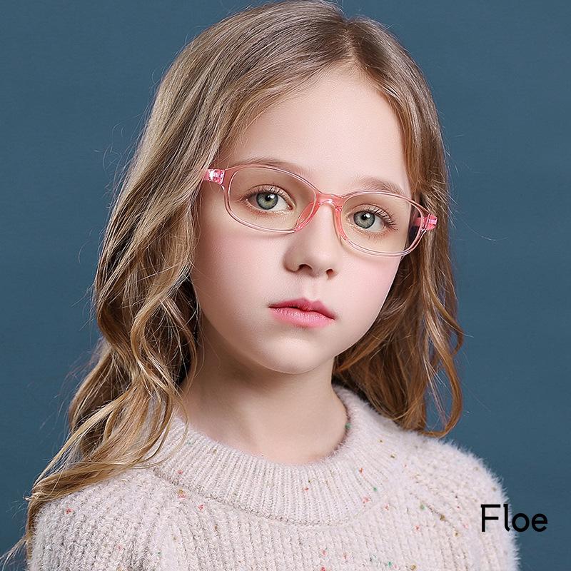 Mắt kính gọng tròn chống tia sáng xanh thời trang cho bé