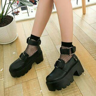 Giày bốt gothic không kèm vớ lưới 7cm thumbnail