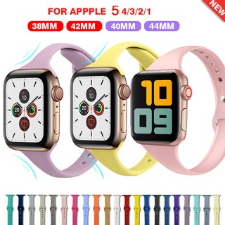 Dây Đeo Silicone Cho Đồng Hồ Thông Minh Apple Watch 44mm 40mm 42mm 38mm Iwatch Series 6 se 5 4 3 2 1