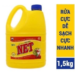 """Nước rửa Chén ĐẬM ĐẶC NET Hương chanh 1,5kg Hàng khuyến mãi có dính keo giá chỉ còn <strong class=""""price"""">600.000.000đ</strong>"""