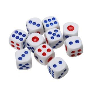 set 10 xúc xắc 6 mặt kiểu dáng cổ điển dùng để chơi game RPG tiện dụng