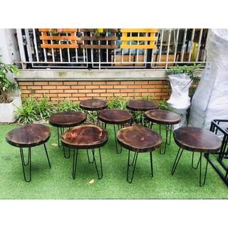 Rẻ Nhất Bàn cafe gỗ xà cừ| bàn cafe vỉa hè| Bàn trà Decor gỗ xà cừ ( Giá rẻ )