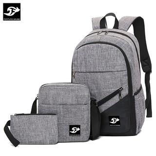 Bộ B001: BALO Fortune Mouse laptop 16inch đi học, đi làm + Túi đeo chéo ipad + bóp bút B001