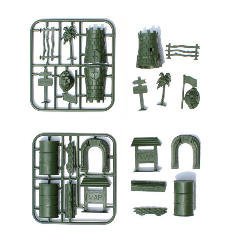 307 bộ lính đồ chơi quân đội trẻ em 4-9cm đặt mô hình bàn cát