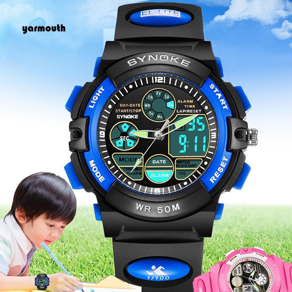 Đồng hồ điện tử chống thấm nước cho bé trai/ bé gái