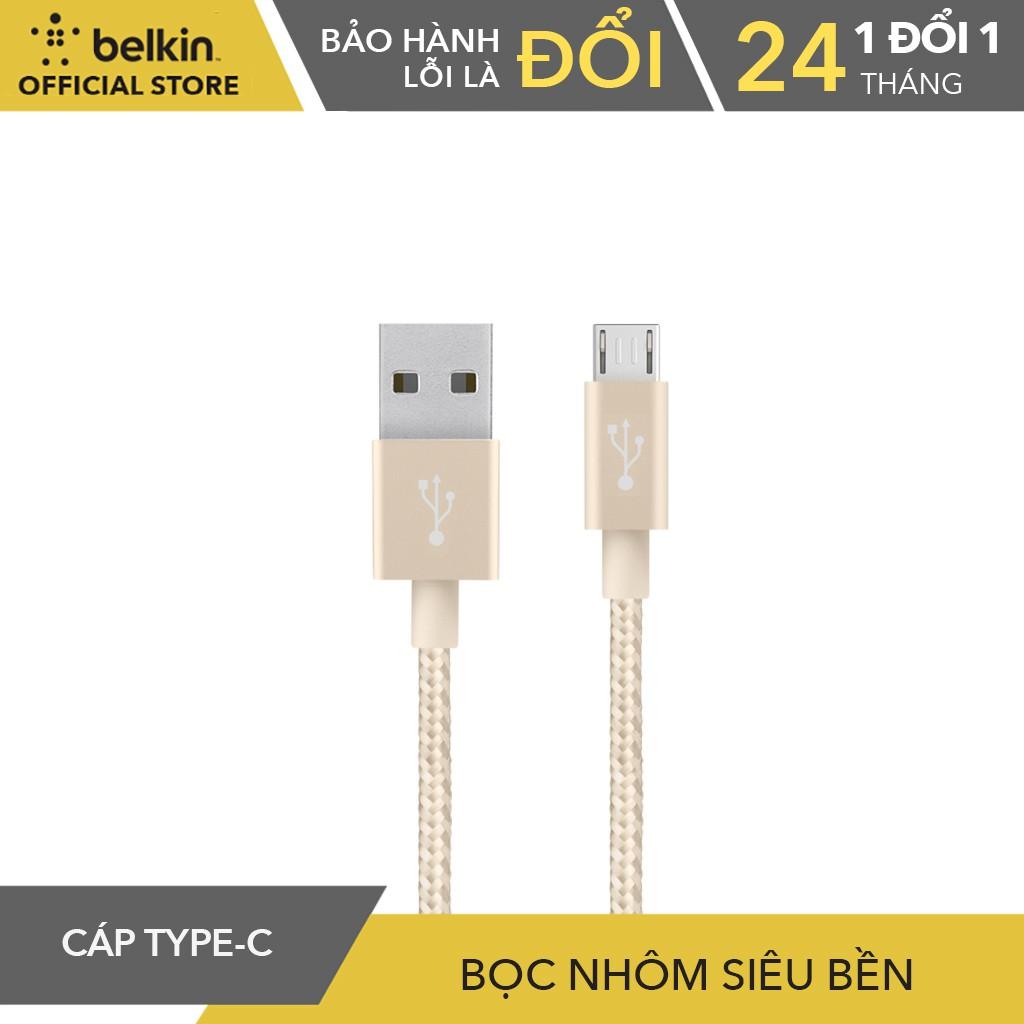 Cáp Sạc Micro USB Belkin F2CU021bt04 Hợp Kim Nhôm Cao Cấp