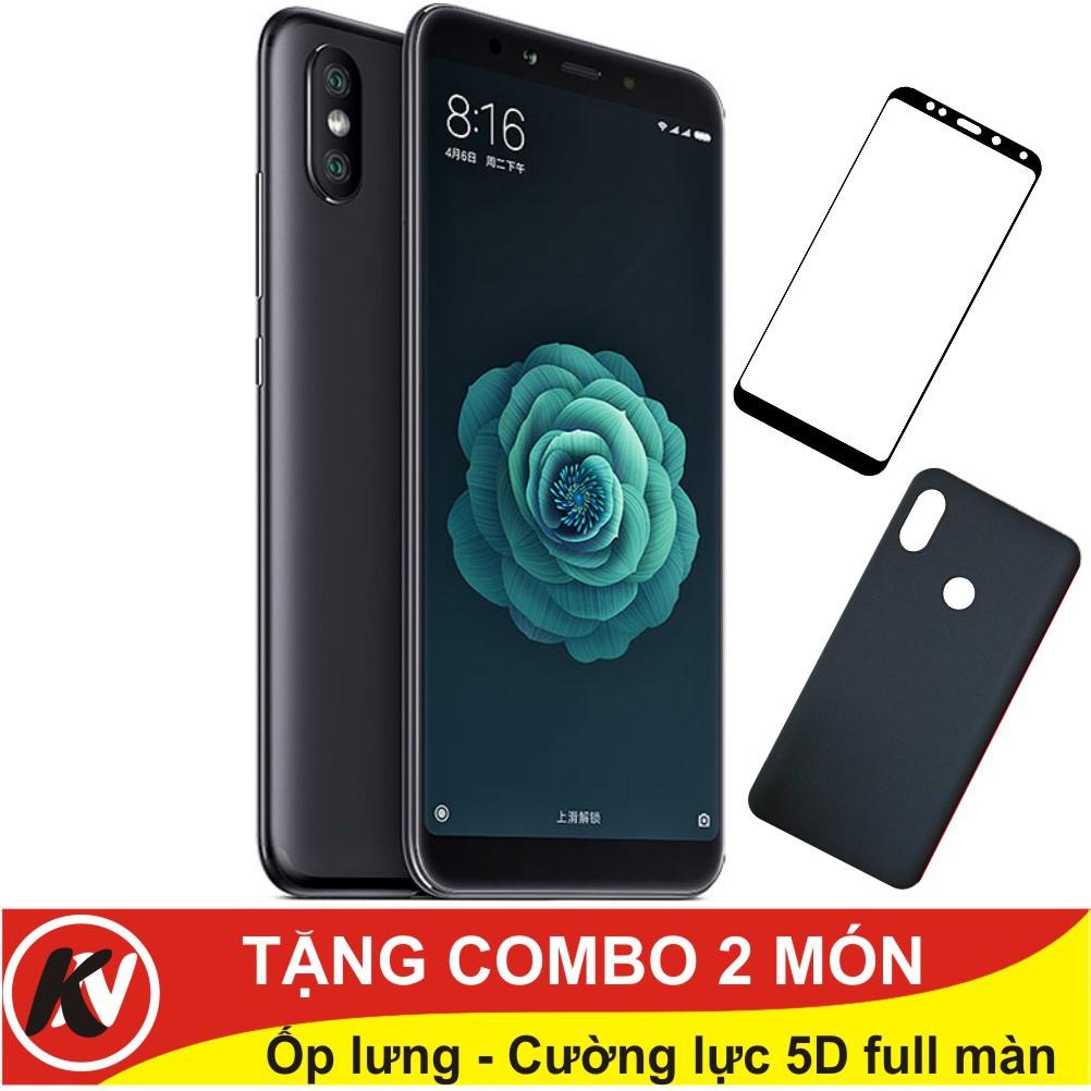 Combo Điện thoại Xiaomi Mi 6X 32GB Ram 4GB + Ốp lưng + Cường lực 5D full màn