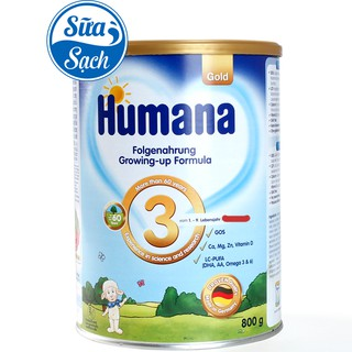 Sữa Humana Gold 3 800gr Date 9 2021