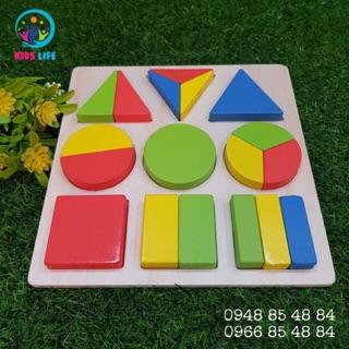 Đồ chơi giáo dục _ Bảng Hình Học Montessori