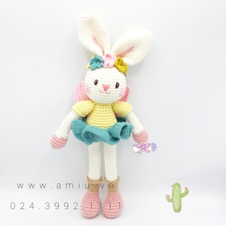 Thỏ Thiên Thần – Thú len nhồi bông cao cấp Amiu Việt Nam