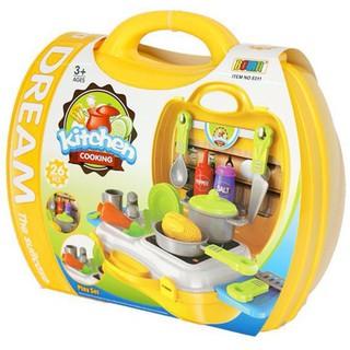 Bộ đồ chơi vali nấu ăn cho bé