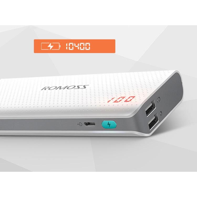 [ Romoss] Pin sạc dự phòng romoss sense 4 LED 10400 mah