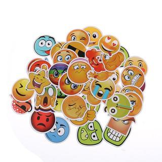 50PCS emoji stickers toys for kids cartoon emoticon smile face decor stickers