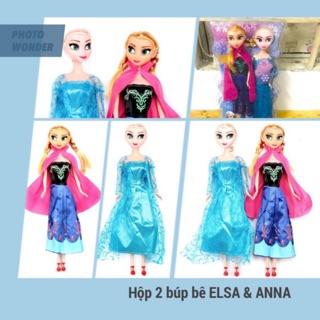 [HỘP ĐẸP] Bộ 2 búp bê Elsa và Anna loại LỚN cao 30cm cao cấp
