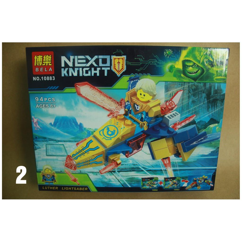 Đồ chơi lắp ráp xếp hình Non lego Nexo Knights phần mới nhất hiệp sĩ tập sự  Robin Bela 10883 Macy đỏ 10887