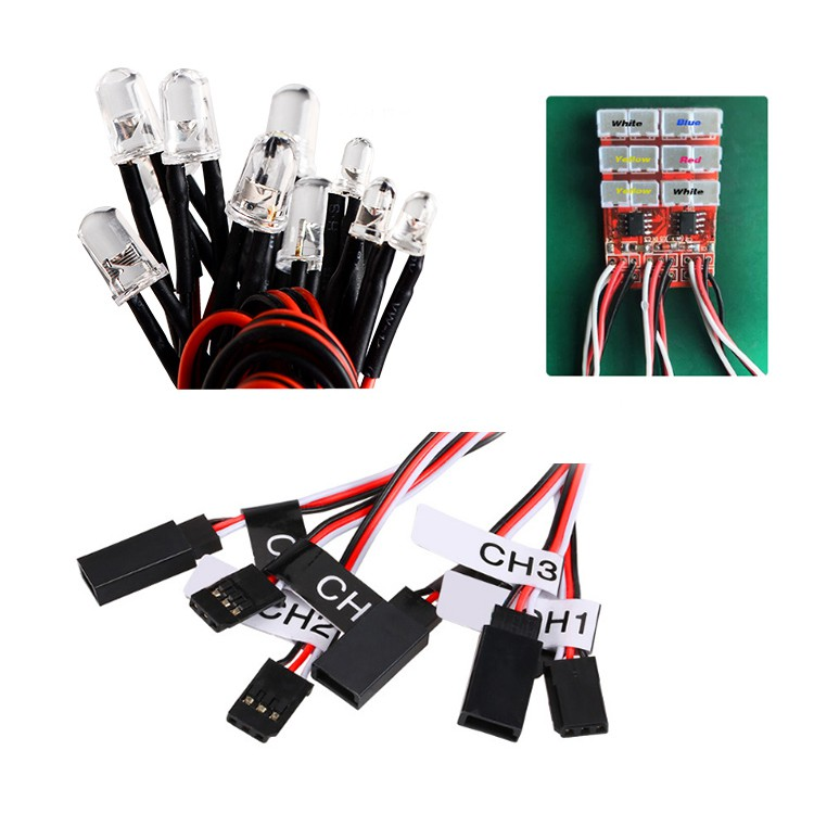 Bộ mạch điều khiển 12 bóng Led lắp cho xe RC