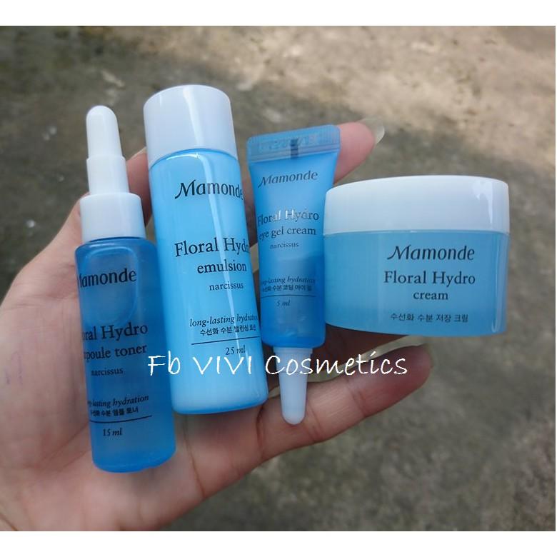 Bộ kit dưỡng ẩm chiết xuất hoa thủy tiên Mamonde Floral Hydro Special Trial Kit (4 sản phẩm) - 3268171 , 968303982 , 322_968303982 , 150000 , Bo-kit-duong-am-chiet-xuat-hoa-thuy-tien-Mamonde-Floral-Hydro-Special-Trial-Kit-4-san-pham-322_968303982 , shopee.vn , Bộ kit dưỡng ẩm chiết xuất hoa thủy tiên Mamonde Floral Hydro Special Trial Kit (4 s