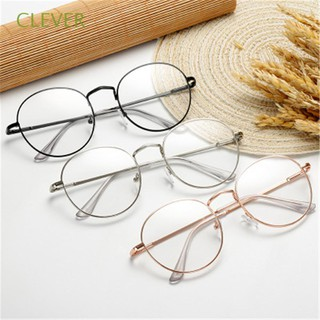 CLEVER Portable Vintage Oversized Metal Vision Care Round Glasses6 4 thumbnail