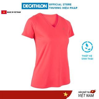 Áo thun thể thao nữ KALENJI run dry chuyên chạy bộ, nhanh khô - hồng thumbnail