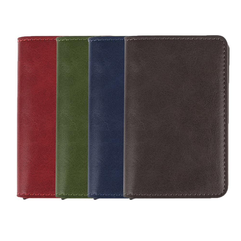 Metal Card Holder RFID Stainless Steel PU Leather Credit Cards Case Wallets Sllxg