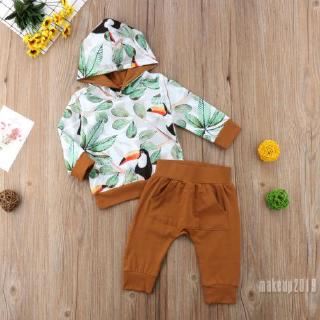 Mu♫-Toddler Infant Baby Boys Tops T-shirt Pocket Pants Outfits Set Clothes 0-2T