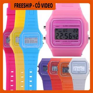 Đồng hồ đeo tay  BH 1 THÁNG  Đồng hồ đeo nam nữ điện tử classic  F-91W (màu đen) chống nước cao 8156