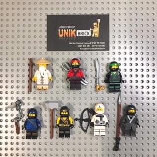 Lego UNIK BRICK Lô 7 nhân vật Sensei Wu, Kai, Lloyd, Jay, Cole, Zane, Nya trong Ninjago chính hãng (như hình)