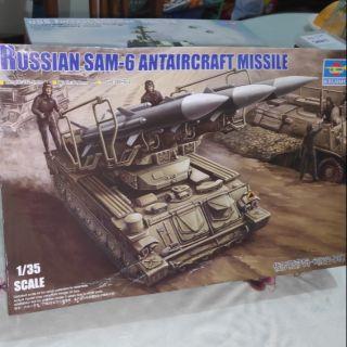 """Mô hình kits quân sự tỷ lệ 1/35 Trumpeter 00361 """" Russia Sam-6 Antiaircraft Missile """""""