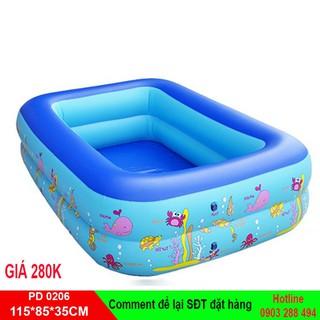[ SALE ] Bể bơi Summer Baby 115*85*35CM 2 tầng tặng bơm điện 2 chiều