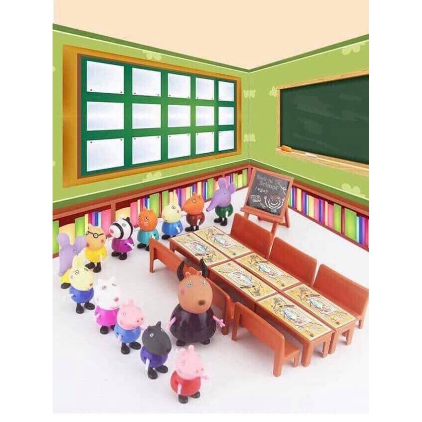 Lớp học Peppa - Bộ đồ chơi lớp học Peppa pig