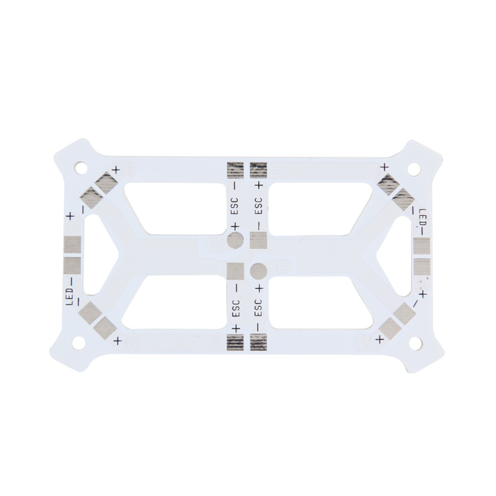 Simple CC3D PDB LED Power Distribution Board for QAV250 Mini FPV Quadcopter