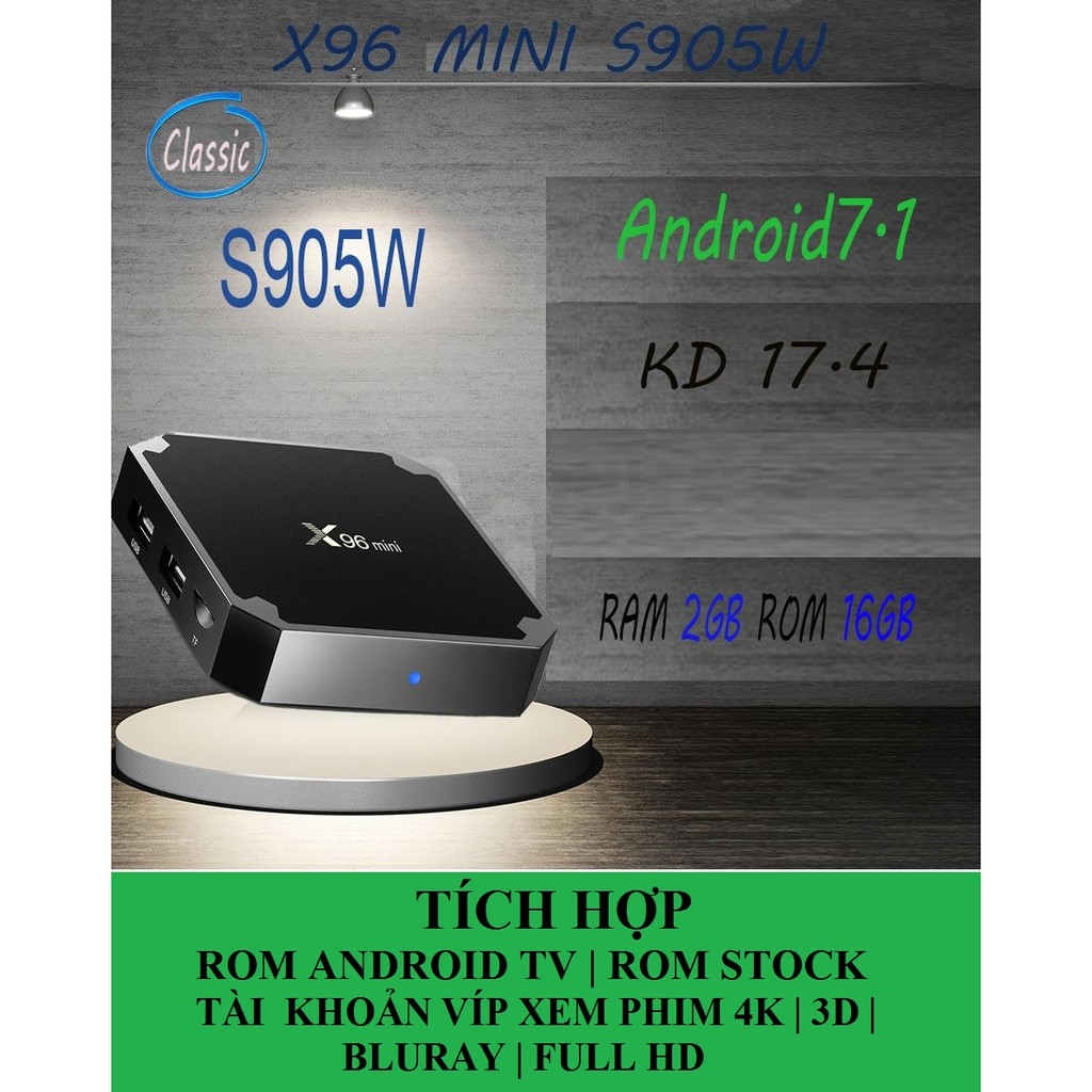 Android TV Box X96 mini phiên bản 2G Ram và 16G bộ nhớ trong - 3038916 , 825217525 , 322_825217525 , 850000 , Android-TV-Box-X96-mini-phien-ban-2G-Ram-va-16G-bo-nho-trong-322_825217525 , shopee.vn , Android TV Box X96 mini phiên bản 2G Ram và 16G bộ nhớ trong