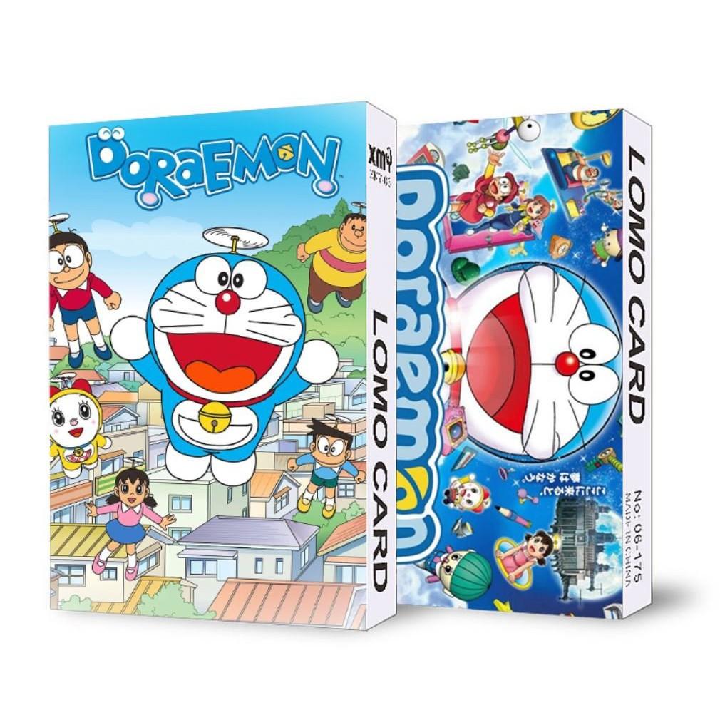 không kèm hộp ) Hộp ảnh lomo in hình DORAEMON 30 tấm anime chibi chính hãng  30,000đ