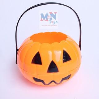 Xách bí ngô đẹp Halloween đường kính 20cm (3 màu)