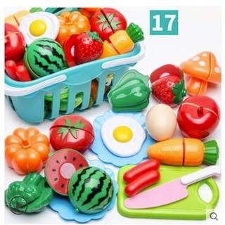 Bộ đồ chơi cắt hoa quả bằng nhựa cho bé 17 – 24 chi tiết
