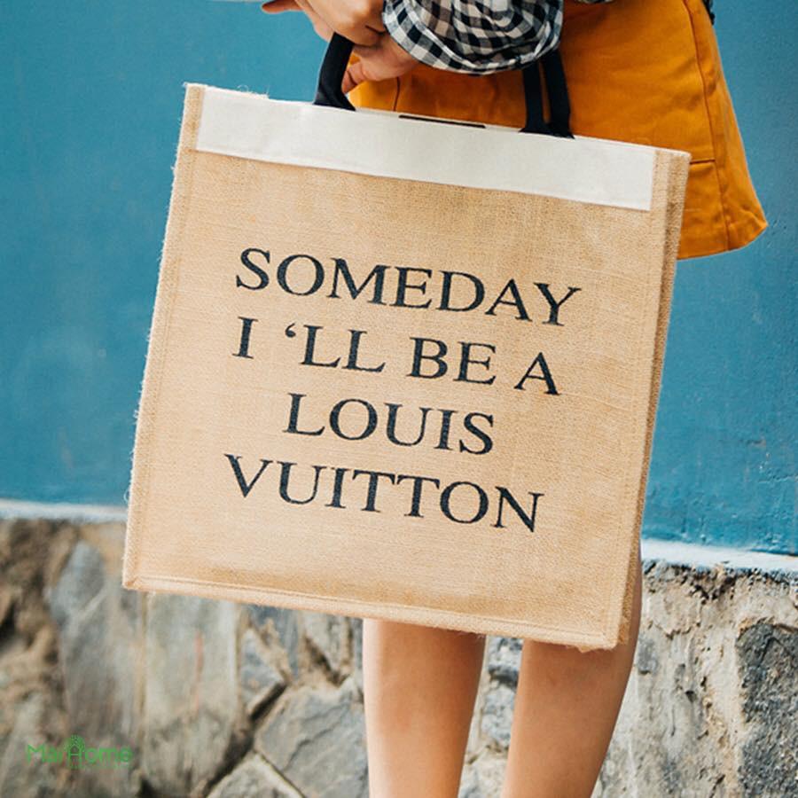 Túi cói Someday I'll Be A Louis Vuitton Sac&Chic SC-1