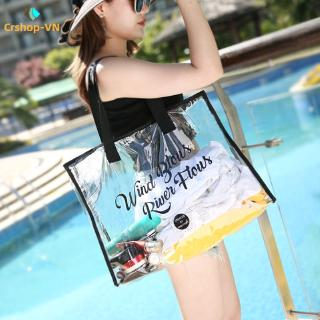 【cr】High Transparent Storage Bag Waterproof Pvc Jelly Bag Travel Cosmetic Bag