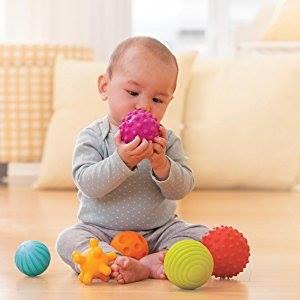 Bóng gai cho bé, bóng cao su cảm nhận giác quan, set 6 quả - Đồ chơi dành cho trẻ từ sơ sinh