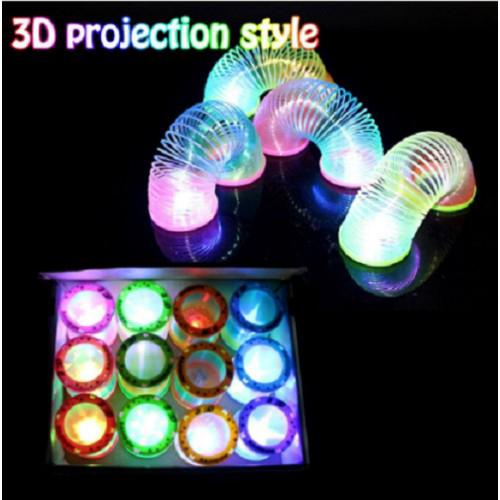 Classic Gift Creative Glow In Dark Spring Toys Magical Folding Rainbow Circle