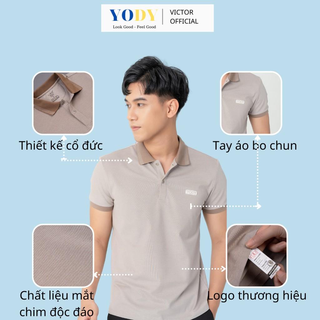 Áo Phông Polo Nam YODY Mắt Chim Chất Thun Cotton Ngắn Tay Có Cổ, Phần Cổ Và Bo Tay Áo Tỉ Mỉ  Mã SP APM3299